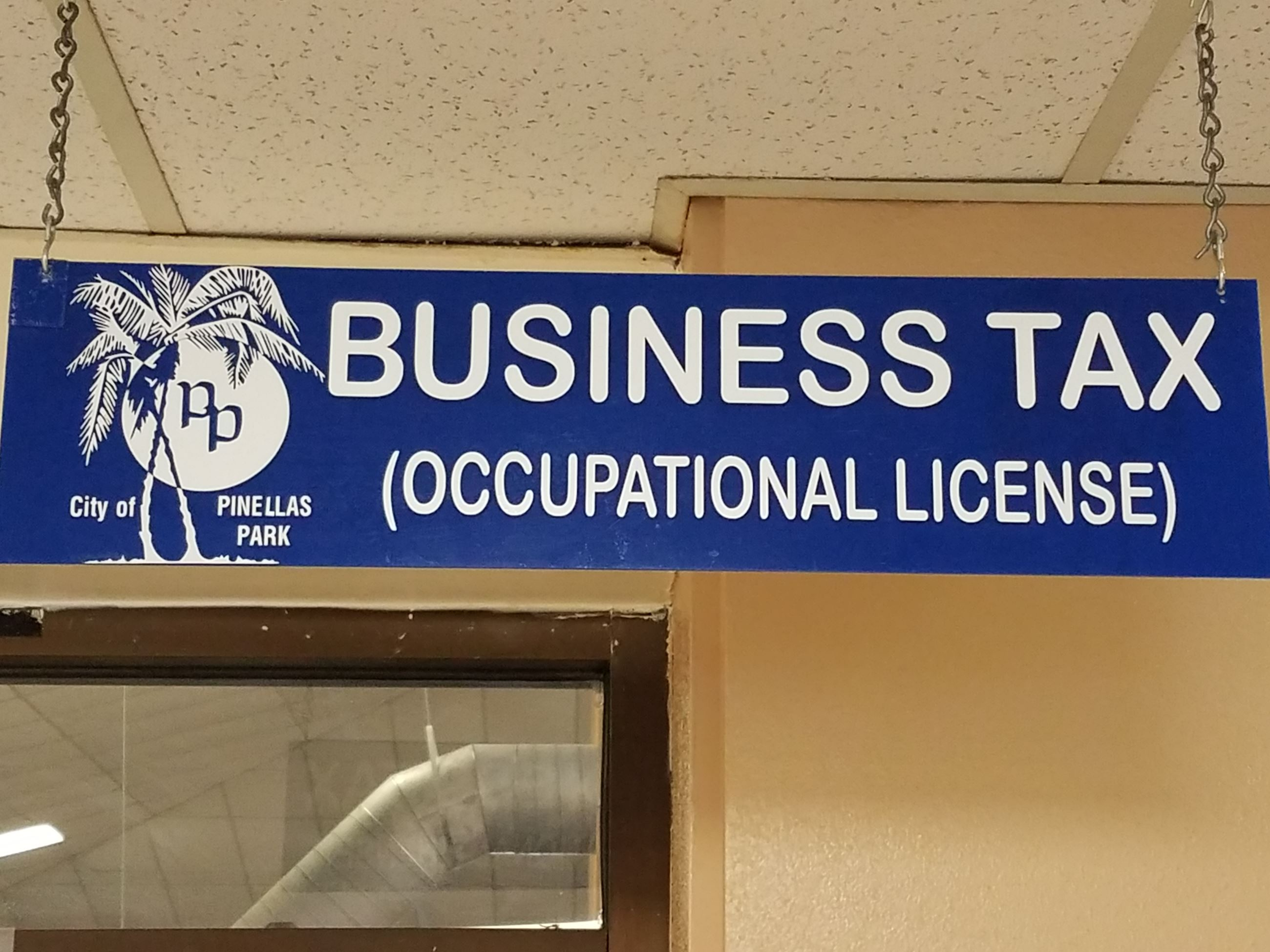 Business Tax (Occupational License) Office Sign