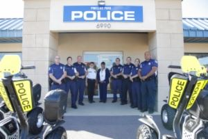 Redevelopment Policing Unit Photo in Front of Police Station