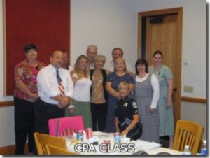 Group gathered for CPA class