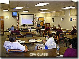 Instructor teaching CPA class