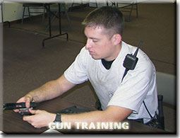Officer learning how to properly assemble a firearm