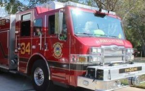 Red Pinellas Park Fire Truck