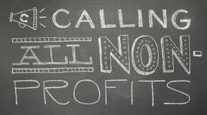 Image of chalkboard with calling all non-profits