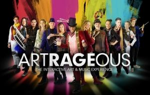 Artrageous artist on stage