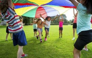 Summer CAmp kids Playing