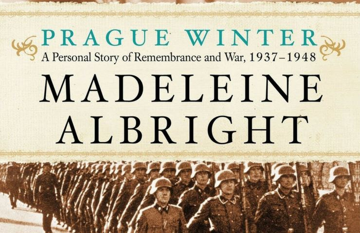 Cropped version of the book cover displaying the text Prague Winter by Madeleine Albright