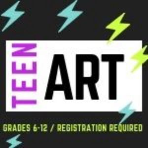 Teen Art with lightning bolts