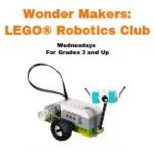 Wonder Makers Lego Robotics grades 3 and up with Lego Robot