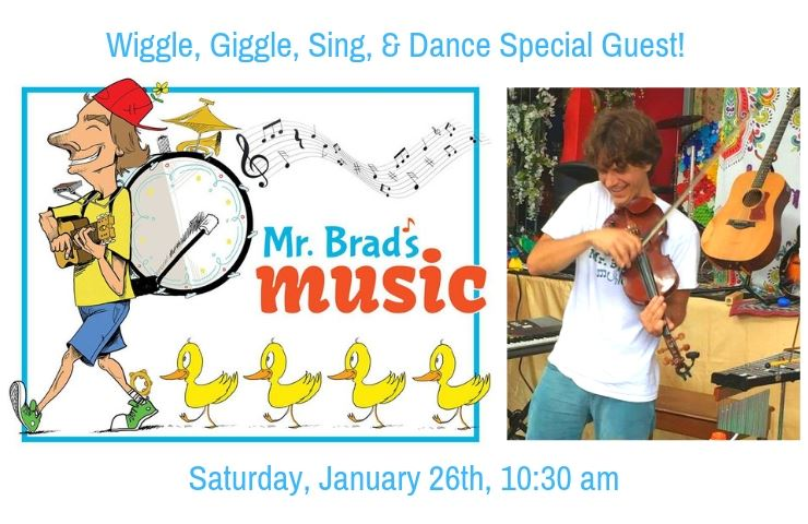 Mr Brad&#39s Music One man band followed by ducklings