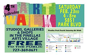 Pinellas Arts Village - Art Walk Saturday February 23rd 4-8pm