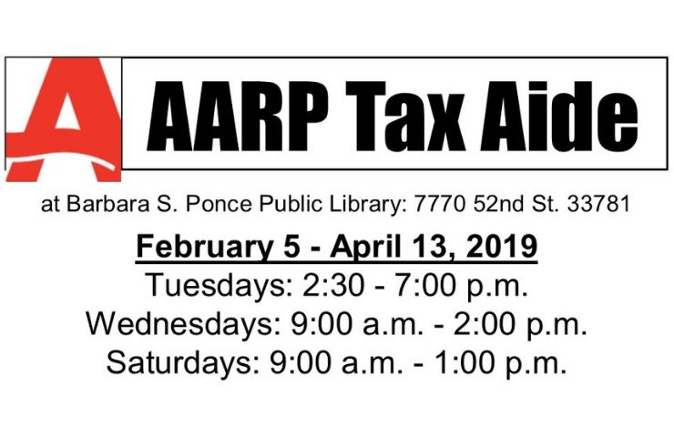 News Flash aarp tax aide 2019