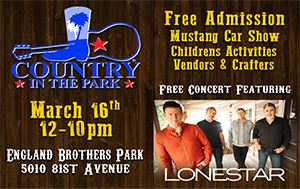 Country In The Park March 16th @ England Brothers Park