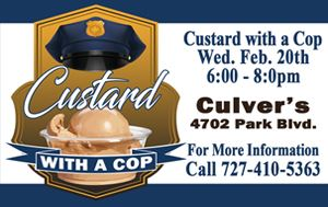 Custard With A Cop @ Culver&#39s Wed Feb 20th