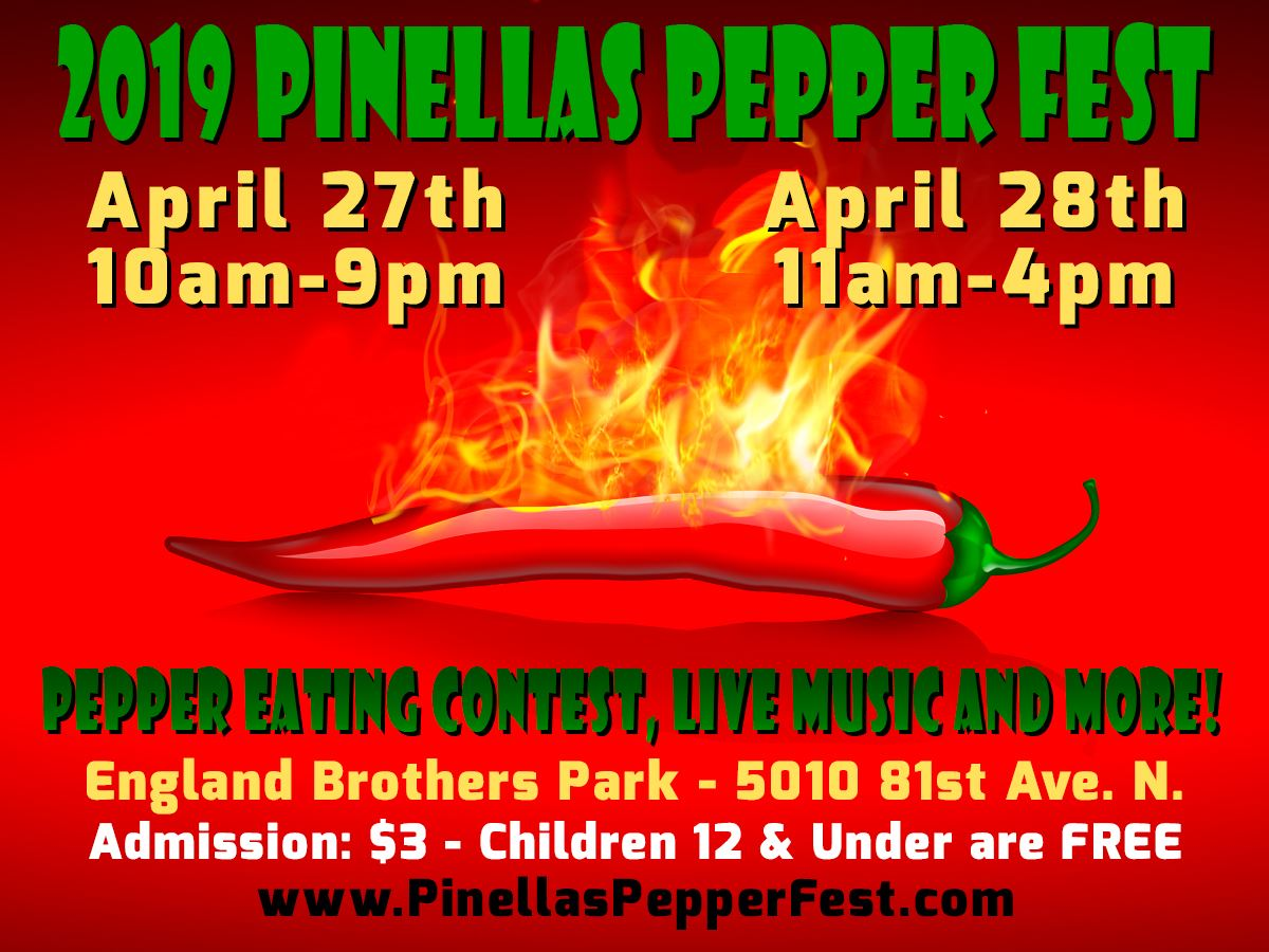 Pepperfest April 27th & 28th @ England Brothers Park