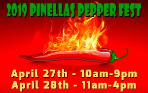 2019 Pinellas Pepper Fest April 27th & 28th @ England Brothers Park