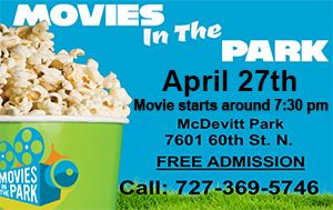 Movies in the Park @ McDevitt Park Sat. Apr. 27th @ 7:30pm