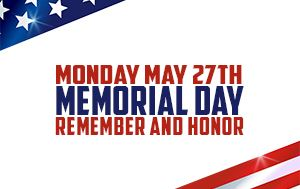 City Offices, Brush Site & Library Closed on Memorial Day May 27th