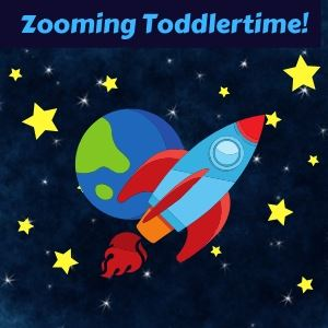 Zooming Toddlertime rocket in outer space