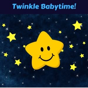 Twinkle Babytime smiling star in space