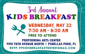 Kids Breakfast May 22nd @ 7:30am @ Performing Arts Center