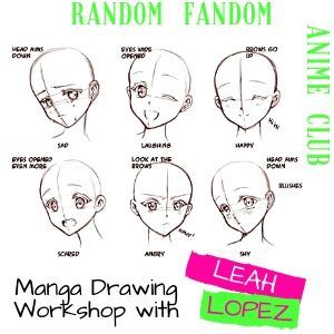 Random Fandom Anime Club Manga Drawing Workshop with Leah Lopez