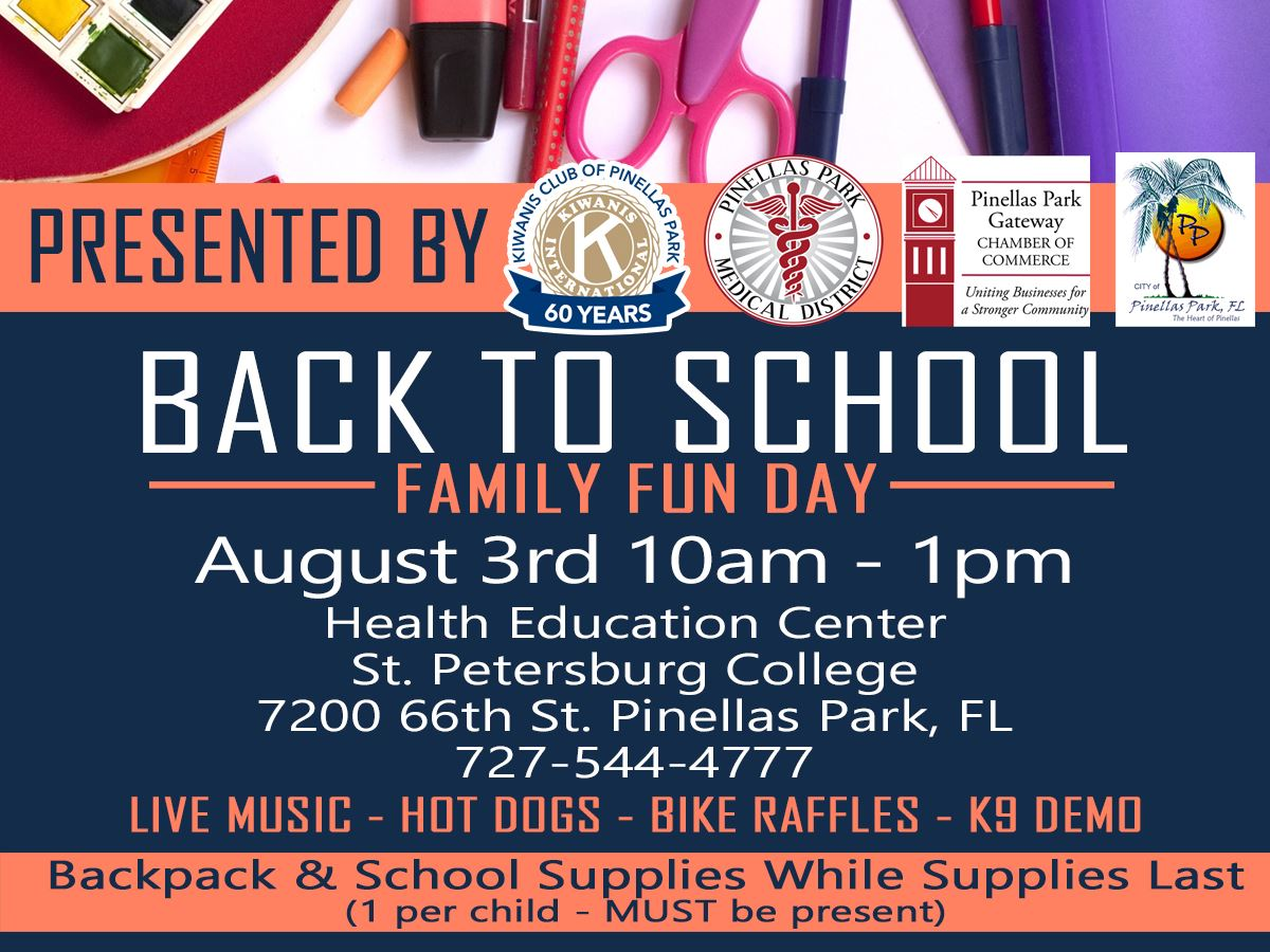 Back To School Family Fun Event August 3rd @ 10am