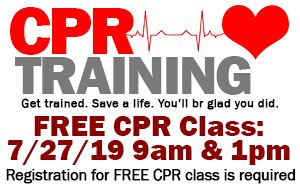 Pinellas Park Fire Department CPR Training July 27th @ 9am & 1pm