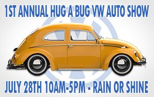 1st Annual Hug A Bug VW Auto Show @ England Brothers Park July 28th @ 10am