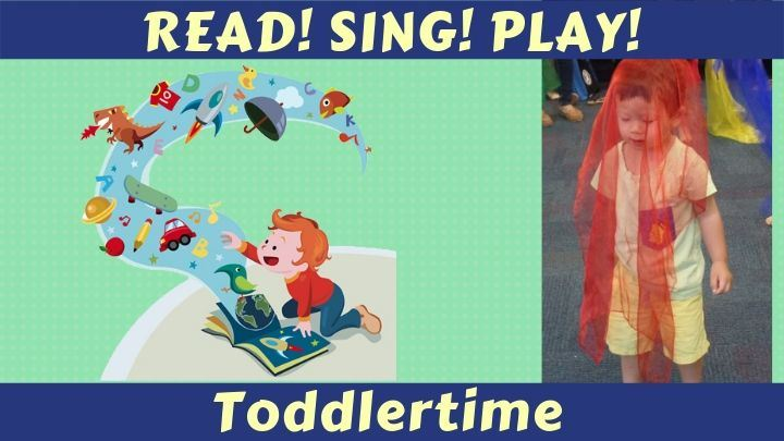 Read Sing Play Toddlertime child with play scarf