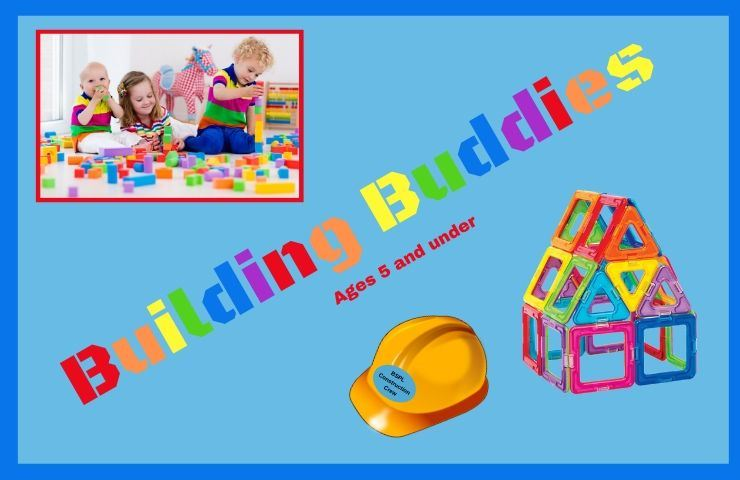 Building Buddies ages 5 and under magna tiles & kids building with blocks