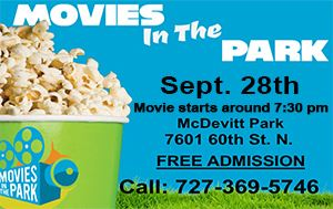 Movies in the Park @ McDevitt Park Sat. Sept. 28th @ 7:30pm