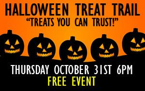 Halloween Treat Trail @ England Brothers Park October 31st @ 6pm