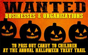Businesses Wanted for Halloween Treat Trail @ England Brothers Park October 31st @ 6pm