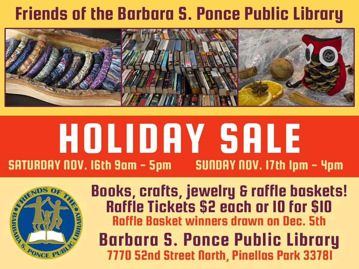 Barbara S. Ponce Public Library Holiday Sale - Nov 16th & 17th