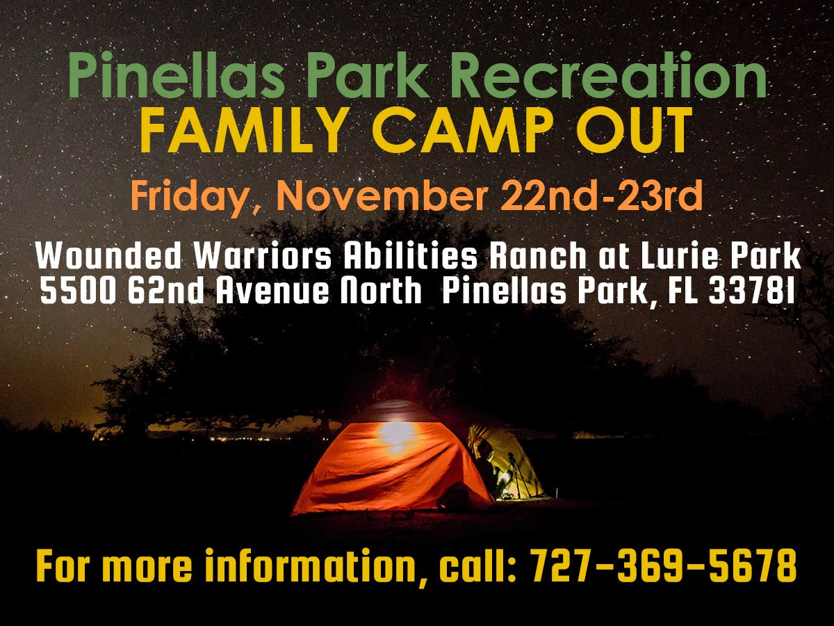 Family Camp Out November 22nd @ Lurie Park