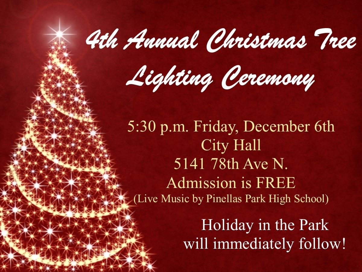 Tree Lighting Ceremony 2019 December 6th @ 5:30 City Hall
