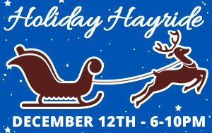 Holiday Hay Ride December 12th @ 6pm 6401 94th Ave. N.
