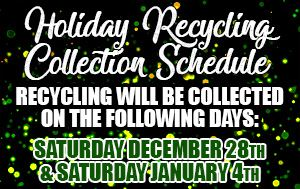 Holiday Recycling Collection Schedule