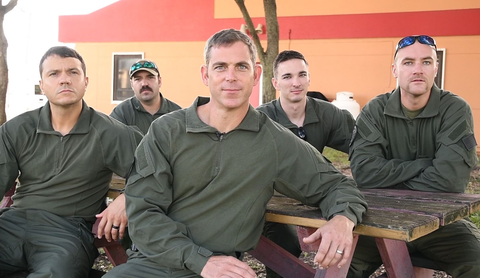 Five members of the tactical medical team group photo