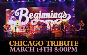 Chicago Tribute Show March 14th @ Performing Arts Center 8pm