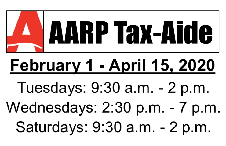 Schedule for AARP Tax-Aide