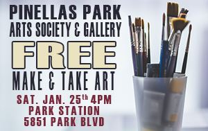 Make & Take Art Event Sat January 25th @ 4pm 5851 Park Blvd.