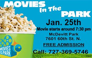 Movies in the Park @ McDevitt Park Sat. Jan. 25th @ 7:30pm