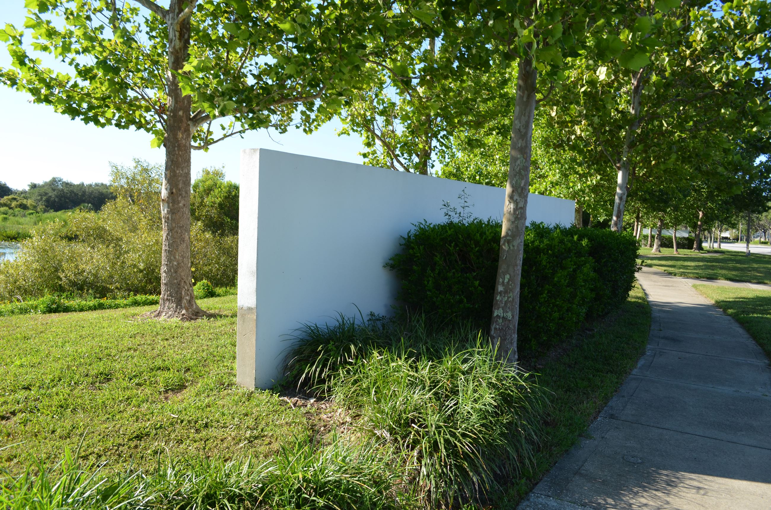 Wall in Landscaping Area