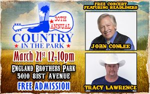 30th Annual Country In The Park @ England Brothers Park Mar 21st @ Noon