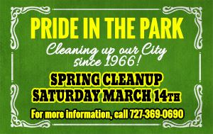 Pride In The Park Spring Cleanup March 14th