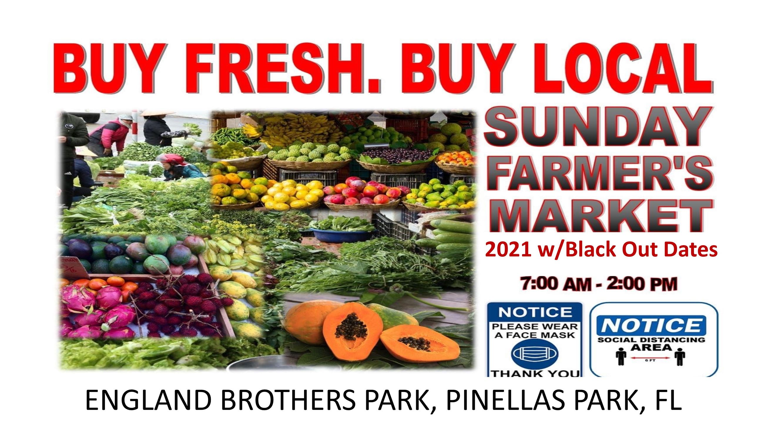 Sunday Farmers Market 2021