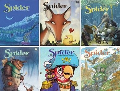 Spider Magazine Covers Opens in new window