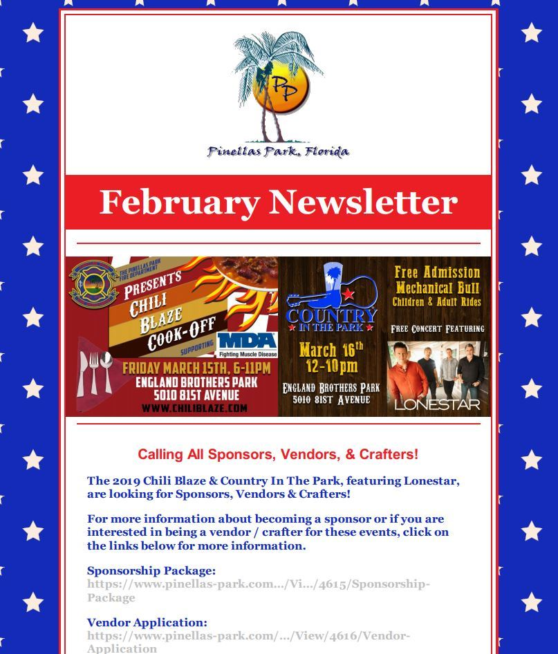 February Newsletter Opens in new window