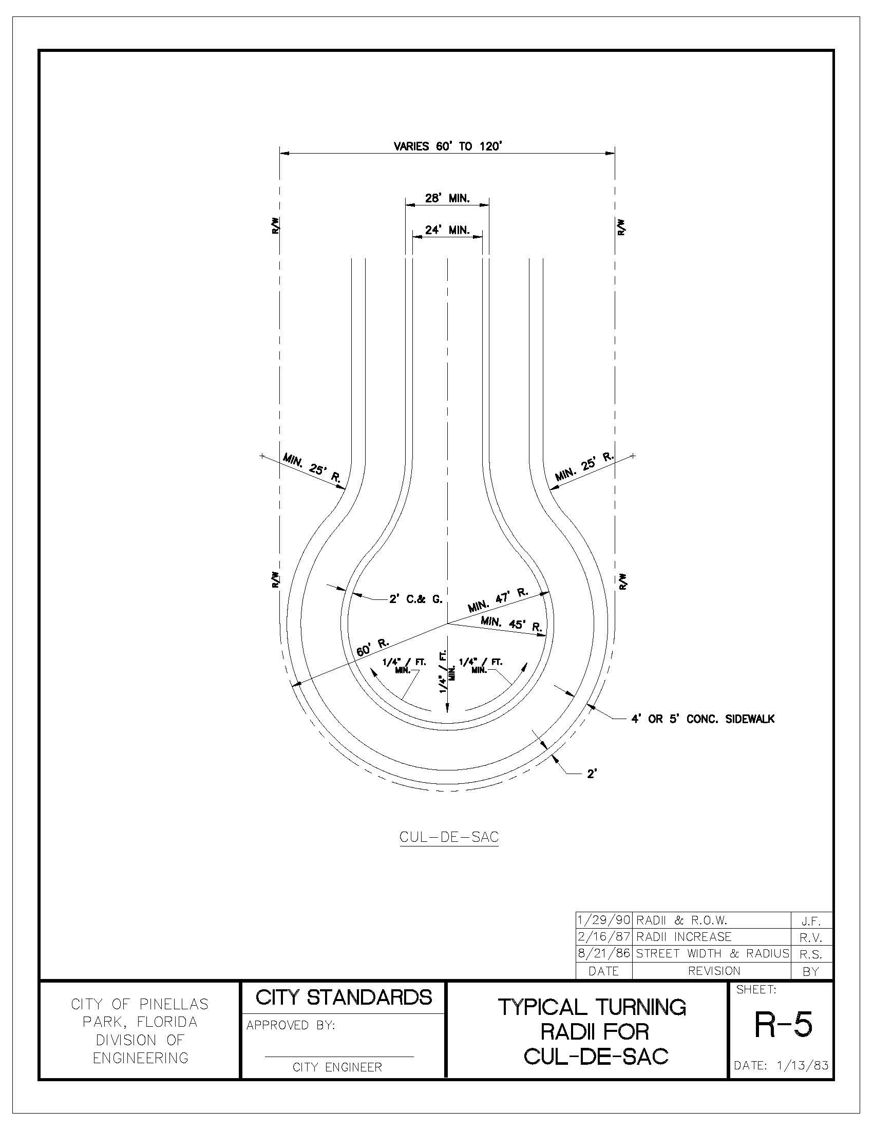 Engineering Manual v5_201908121127291138_Page_042 typical turning radii for cul de sac